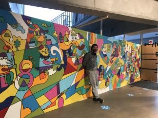 Welcome Mural at CC Jan Tervaert