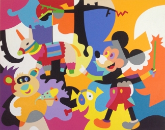 Mickey goes pinata